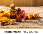 bottle of aroma essential oil...   Shutterstock . vector #469423751