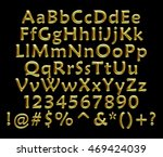 3d gold full alphabet with... | Shutterstock . vector #469424039