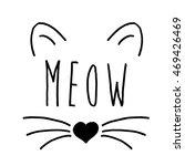 Stock vector cat on a white background cat print cat graphic cat illustration cat design cat graphic cat 469426469