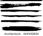 set of grunge brush strokes | Shutterstock .eps vector #469430834