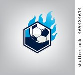 soccer logo emblem design... | Shutterstock .eps vector #469434614