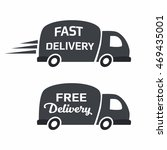 free and fast delivery car icon ... | Shutterstock .eps vector #469435001