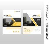 yellow vector annual report...   Shutterstock .eps vector #469443611