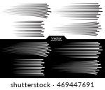 speed lines set. motion effects ... | Shutterstock .eps vector #469447691