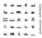 grass and signs icons set  ... | Shutterstock .eps vector #469448531