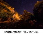 stars in night sky  landscape | Shutterstock . vector #469454051