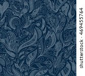 Seamless Denim Floral Pattern....