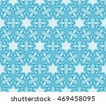 abstract flowers. blue.... | Shutterstock .eps vector #469458095