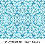 abstract flowers. blue.... | Shutterstock .eps vector #469458191