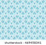 abstract flowers. blue.... | Shutterstock .eps vector #469458341