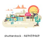 motel flat design | Shutterstock .eps vector #469459469