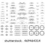 vintage set exclusive borders... | Shutterstock . vector #469464314