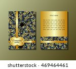 flyer template with abstract... | Shutterstock .eps vector #469464461