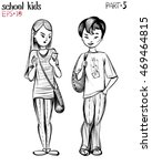 vector illustration of school... | Shutterstock .eps vector #469464815