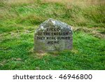 Grave Marker On The Culloden...