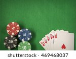gambling chips frame and flush... | Shutterstock . vector #469468037