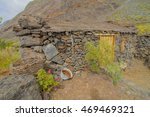 exterior of abandoned stone... | Shutterstock . vector #469469321