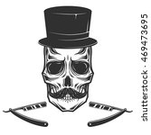 skull with hat | Shutterstock .eps vector #469473695