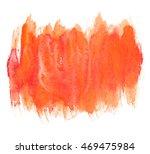 bright orange vertical brush... | Shutterstock . vector #469475984
