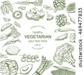 vintage drawing of vegetables... | Shutterstock .eps vector #469477835