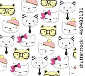 cat collection  cute pattern... | Shutterstock .eps vector #469482131