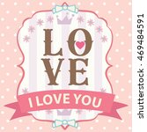happy valentine day card vector ... | Shutterstock .eps vector #469484591
