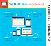 web design infographics. flat... | Shutterstock .eps vector #469485551