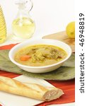 vietnamese food curry with bread | Shutterstock . vector #46948819