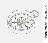 compass line icon in vector | Shutterstock .eps vector #469488377