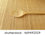 Lonely Spoon On Wood Texture O...