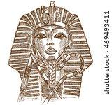 golden mask of egyptian pharaoh   Shutterstock .eps vector #469493411