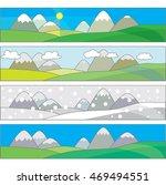 simple vector landscape four... | Shutterstock .eps vector #469494551