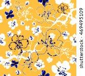 vector floral watercolor... | Shutterstock .eps vector #469495109