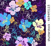 vector floral watercolor... | Shutterstock .eps vector #469495115