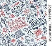 back to school supplies... | Shutterstock .eps vector #469495907