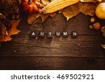 autumn leaves. fall red leaves... | Shutterstock . vector #469502921
