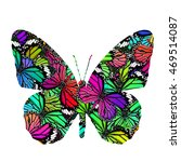 beautiful fancy butterfly in... | Shutterstock . vector #469514087