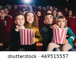 happy family in the movie | Shutterstock . vector #469515557