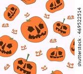 seamless pumpkin pattern on... | Shutterstock .eps vector #469522514
