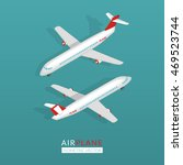 set with airplane icons. flat... | Shutterstock .eps vector #469523744