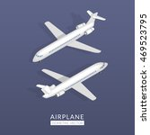 set with airplane icons. flat... | Shutterstock .eps vector #469523795