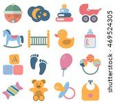 16 baby icons | Shutterstock .eps vector #469524305