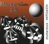 invitation to halloween party... | Shutterstock .eps vector #469526354