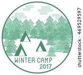 outdoor winter wood camp....   Shutterstock .eps vector #469529597