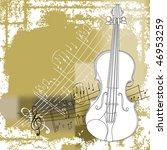 grunge style violin background | Shutterstock .eps vector #46953259