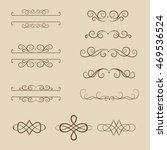vector set of vintage elements. ... | Shutterstock .eps vector #469536524