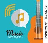 guitar music sound instrument... | Shutterstock .eps vector #469537751
