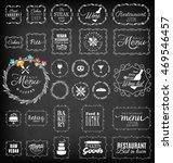 vintage restaurant  menu and... | Shutterstock .eps vector #469546457
