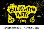 halloween party hand lettering. ... | Shutterstock .eps vector #469550189