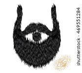 hairy curly hipster strong... | Shutterstock . vector #469551284